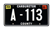 A-113 prop plate movie memorabilia from Cars starring Larry the Cable Guy