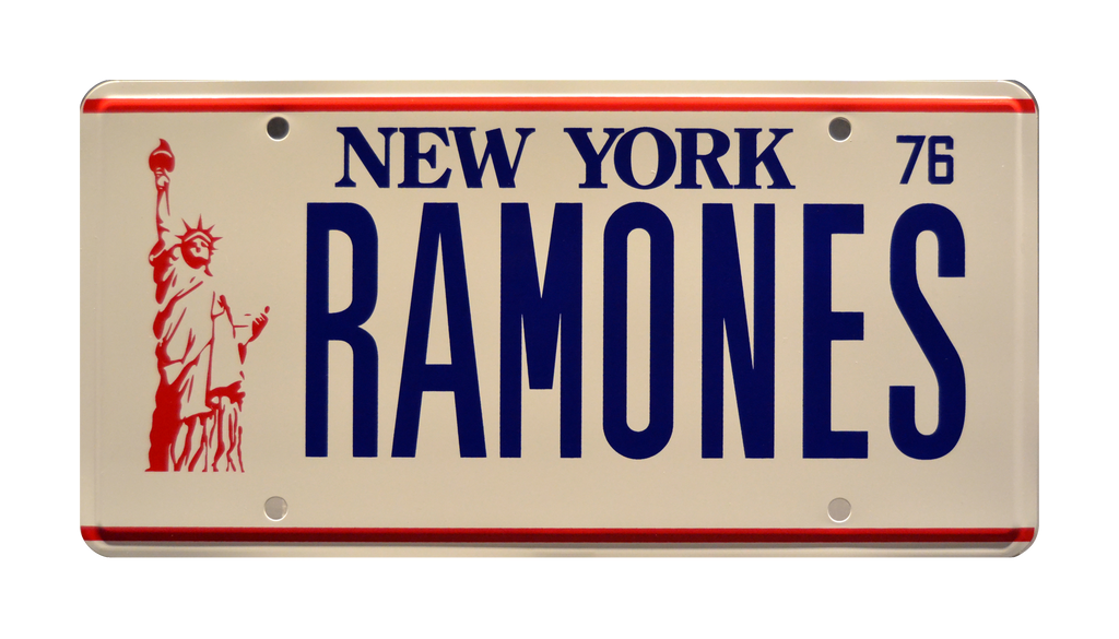 RAMONES prop plate memorabilia from The Ramones with Joey Ramone