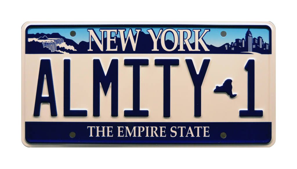 ALMITY 1 prop plate movie memorabilia from Bruce Almighty starring Jim Carrey