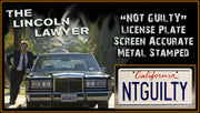 Replica metal stamped California license plate garage decor from Big Trouble in Little China starring Kim Cattrall