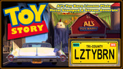 LZTYBRN prop plate movie memorabilia from Toy Story 2 starring Tim Allen