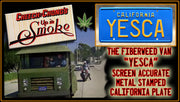YESCA prop plate movie memorabilia from Cheech & Chong's Up in Smoke starring Tommy Chong