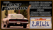 2JRI424 prop plate movie memorabilia from The Fast and The Furious starring Eva Mendes