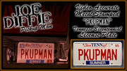 Home theatre décor from Pickup Man music video with country music memorabilia
