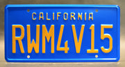Replica metal stamped California license plate garage decor from Bumblebee starring Dylan O'Brien