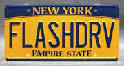 Replica metal stamped New York license plate garage decor from Spider-Man: Homecoming starring Michael Keaton