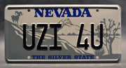 Replica metal stamped Nevada license plate garage decor from Tremors starring Michael Gross