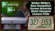 327 2153 prop plate television memorabilia from Breaking Bad starring Walter White