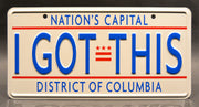 Replica metal stamped District of Columbia license plate garage decor from Spies in Disguise starring Karen Gillan