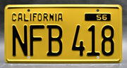 Replica metal stamped California license plate garage decor from Psycho with Norman Bates