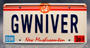 Replica metal stamped license plate garage decor from Onward with Octavia Spencer