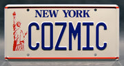Replica metal stamped New York license plate garage decor from The Big Bang Theory with Sheldon Cooper