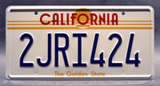 Replica metal stamped California license plate garage decor from The Fast and The Furious starring Dwayne Johnson