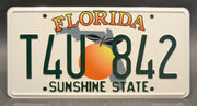 Replica metal stamped Florida license plate garage decor from The Fast and The Furious starring Ludacris