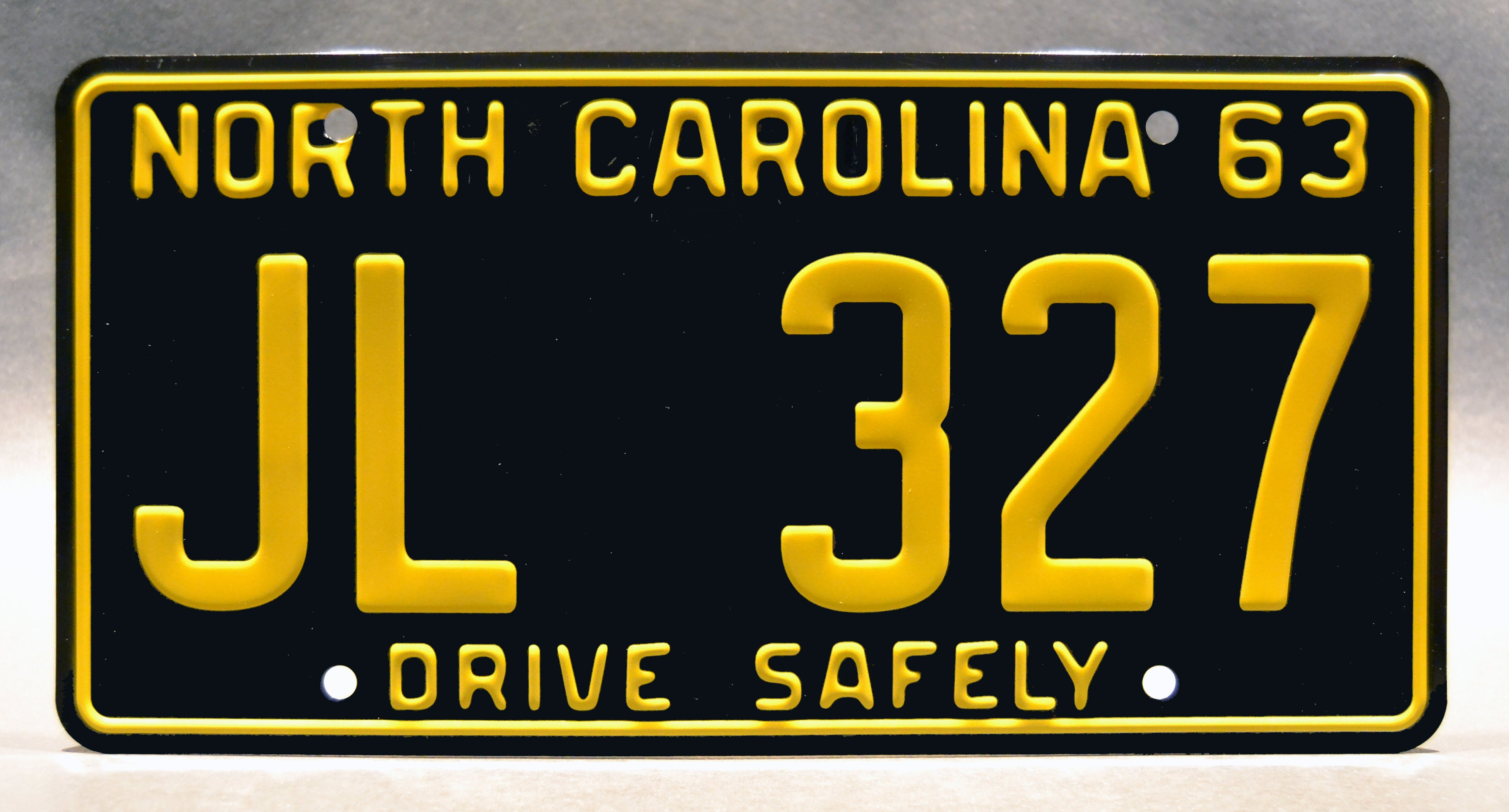 The Andy Griffith Show Mayberry Police Car Jl 327 Metal Stamped Replica Prop License Plate Celebrity Machines