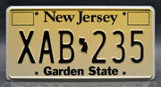 Replica metal stamped New Jersey license plate garage decor from John Wick with Iosef Tarasov