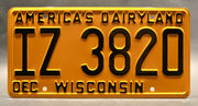 Replica metal stamped Wisconsin license plate garage decor from That '70s Show starring Mila Kunis