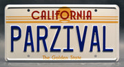 Replica metal stamped California license plate garage decor from Ready Player One starring James Donovan Halliday