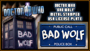 BAD WOLF prop plate movie memorabilia from Doctor Who with Martha Jones