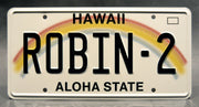 Replica metal stamped Hawaii license plate garage decor from Magnum PI starring Perdita Weeks