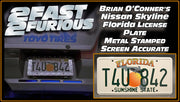 T4U 842 prop plate movie memorabilia from The Fast and The Furious starring Tyrese Gibson