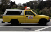 RES1536 license plate on the Pizza Planet Truck from Toy Story