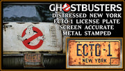 2020 ECTO-1 prop plate movie memorabilia from Ghostbusters 3 starring Bill Murray