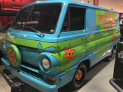 ZOINKS license plate on the Mystery Machine from Scooby-Doo
