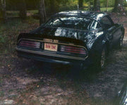 BAN ONE license plate on Burt Reynolds' 1977 Pontiac Trans Am from Smokey and the Bandit