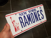 RAMONES license plate for Punk Rock memorabilia from The Ramones