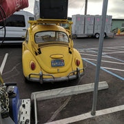 RWM4V15 license plate on the 1967 Volkswagen Beetle from Bumblebee