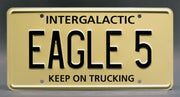Replica metal stamped license plate garage decor from Spaceballs starring Bill Pullman