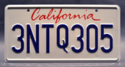 Replica metal stamped California license plate garage decor from The Fast and The Furious starring Jason Statham