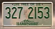 Replica metal stamped New Hampshire license plate garage decor from Breaking Bad starring Bryan Cranston