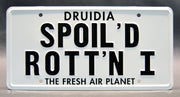 Replica metal stamped license plate garage decor from Spaceballs with President Skroob