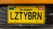 LZTYBRN license plate on the Al's 50s coupe from Toy Story 2
