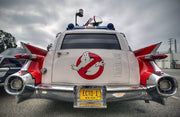 ECTO-1 license plate on the '59 Cadillac Hearse from Ghostbusters