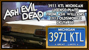 3971 KTL prop plate movie memorabilia from Ash vs Evil Dead starring Bruce Campbell