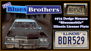 BDR529 prop plate movie memorabilia from The Blues Brothers starring John Belushi
