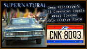 CNK 80Q3 prop plate movie memorabilia from Supernatural starring Jared Padalecki