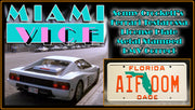 AIF 00M prop plate movie memorabilia from Miami Vice starring Philip Michael Thomas