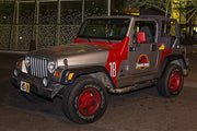 Jeep Wrangler Sahara collectible metal art from Jurassic Park