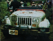 JP 10 license plate on Jeep Wrangler Sahara from Jurassic Park