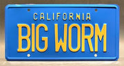Replica metal stamped California license plate garage decor from Friday with Craig Jones