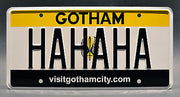 Replica metal stamped Gotham CIty license plate garage decor from Suicide Squad starring Jared Leto