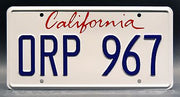 Replica metal stamped California license plate garage decor from Training Day starring Dr. Dre