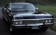 KAZ 2Y5 license plate on Dean Winchester's '67 Chevrolet Impala from Supernatural