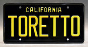 Replica metal stamped California license plate garage decor from The Fast and The Furious starring Michelle Rodriguez