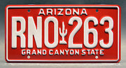 Replica metal stamped Arizona license plate garage decor from The Fast and The Furious starring Jordana Brewster
