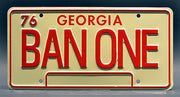 Replica metal stamped Georgia license plate garage decor from Smokey and the Bandit starring Paul Williams